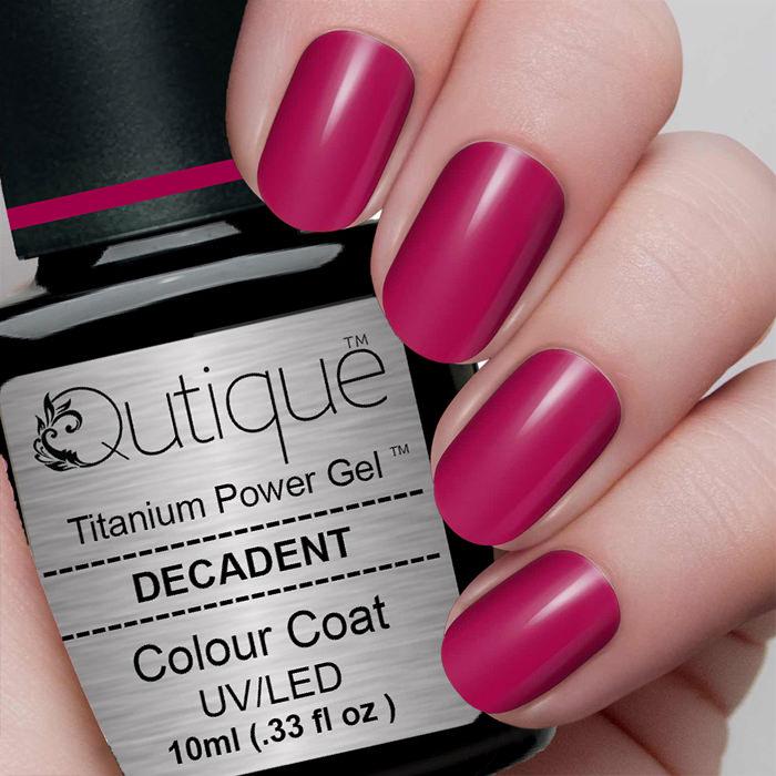 Gel Nail Polish Decadent Bright Red Metallic Qutique