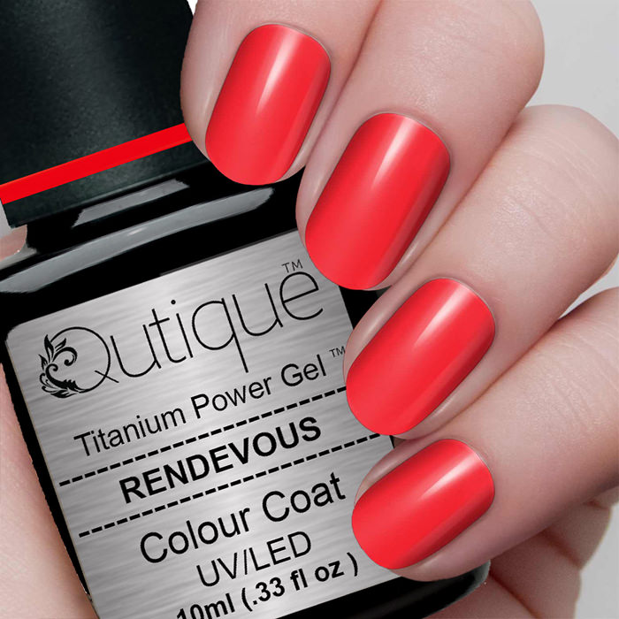 Gel Nail Polish -Rendevous (bright Red Orange)