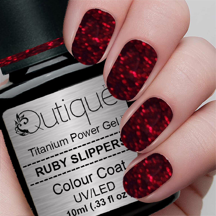 Gel Nail Polish Glitter Gel -Ruby Slippers ...