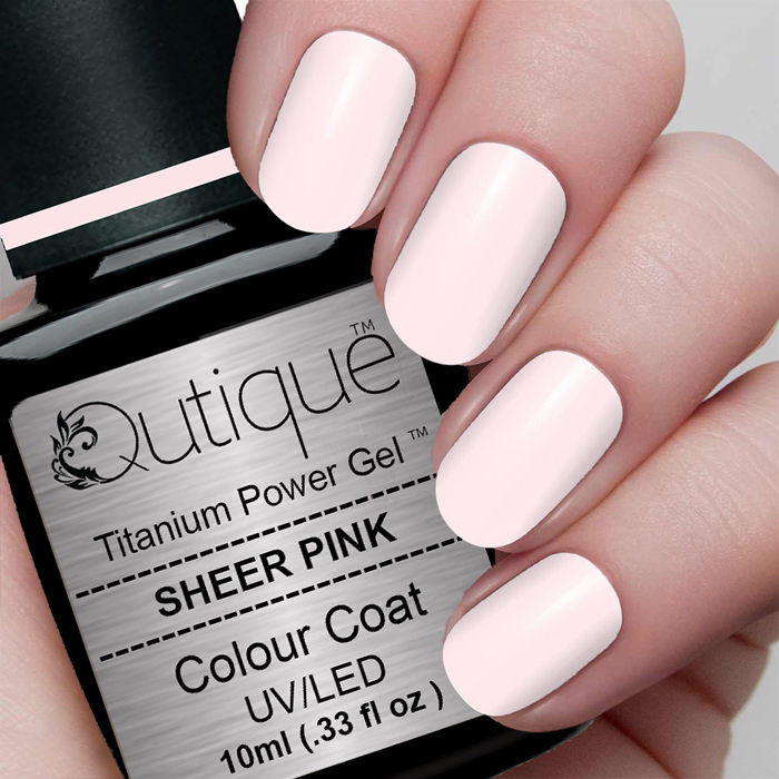 Gel Nail Polish Sheer Pink Clear Pink Qutique
