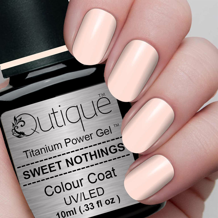 Opalescent Nail Polish: Gel Nail Polish -Sweet Nothings (peachy Pink Opalescent