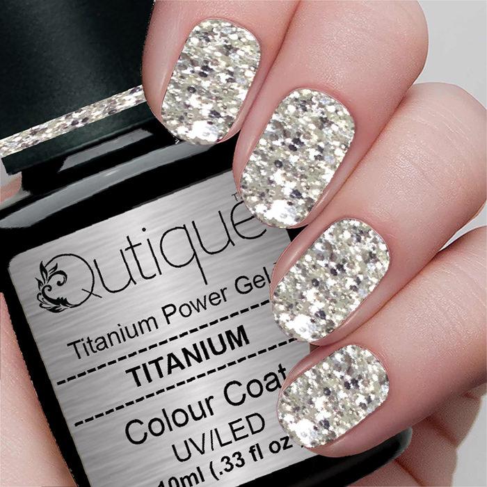 How To Clean A Titanium Nail: Glitter Gel -Titanium