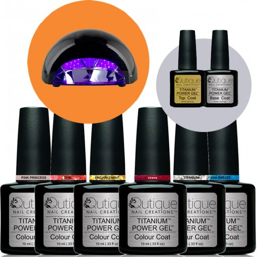 How To Clean A Titanium Nail: 6 Colours -Gel Nail Polish Kit Inc LED Lamp