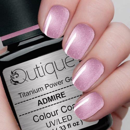 Metallic Gel Nail Polish: Gel Nail Polish -Admire (metallic Pink)