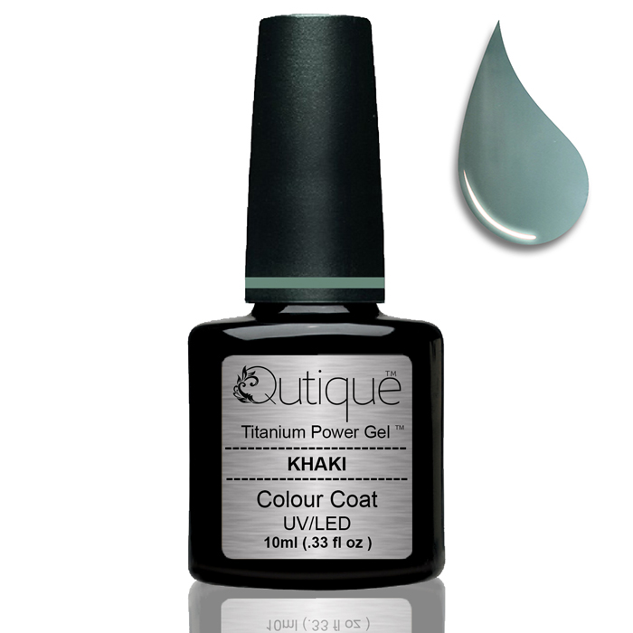 Gel Nail Polish -Khaki | Qutique –Titanium Power Gel
