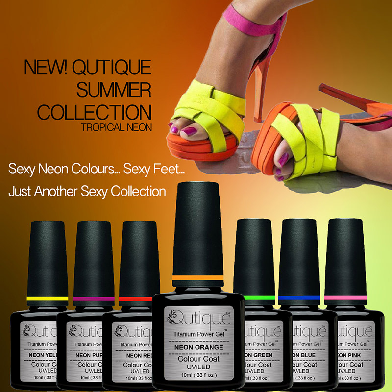 Gel Nail Polish Pack/Set/Kit -Tropical NEON Collection -6 Colours ...