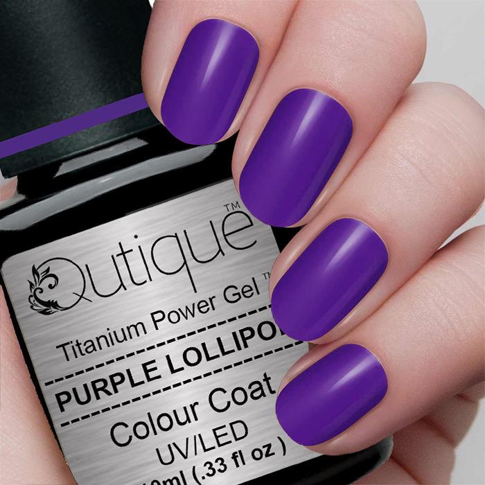Gel Nail Polish -Purple Lollipop | Qutique –Titanium Power Gel