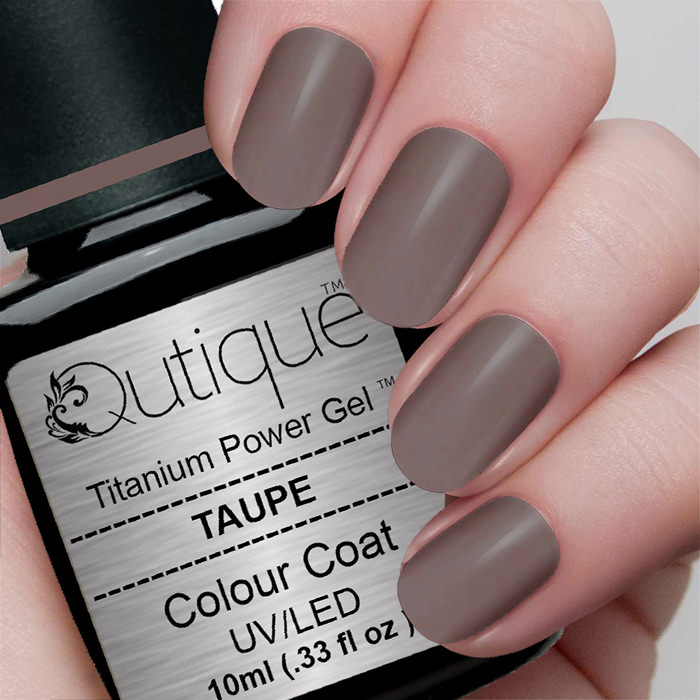 Gel Nail Polish -Taupe | Qutique –Titanium Power Gel