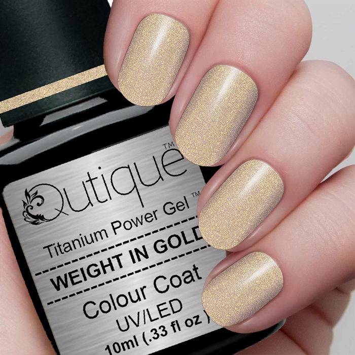 How To Clean A Titanium Nail: Gel Nail Polish -Weight In Gold (gold Shimmer)